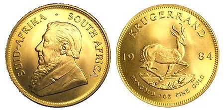Vender krugerrand sudafricano de oro en Madrid