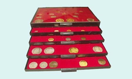 Bandeja para monedas de colección