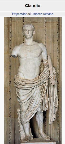 Emperador de Roma Claudio
