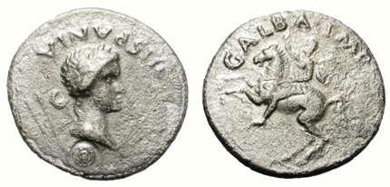 denarios romanos - Galba