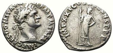 denario de plata del emperador domiciano