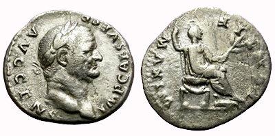 Denario de plata - Vespasiano