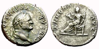 Denario romano - Vespasiano