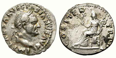denario romano vespasiano