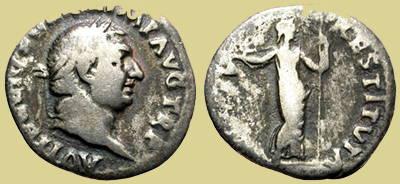 Denario de plata - Vitelio