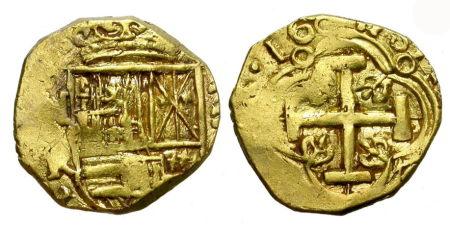 Moneda doblon 1660 69 numsimatica