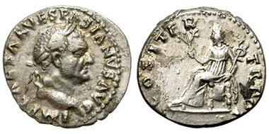 Moneda antigua Vespasiano