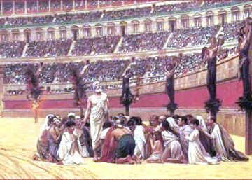Coliseo romano - cristianos