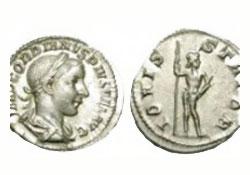Moneda de plata gordiano III